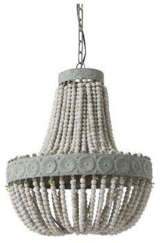 Prachtige Hanglamp Kralen Oud Wit | LL321; 265,--