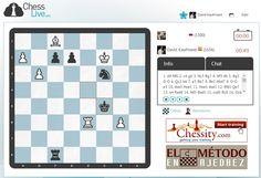 Poco a poco Chess Live se va internacionalizando y ya tenemos a jugadores de varios países (España, México, Perú, Rusia, Alemania...). Esperamos sinceramente que todos estéis disfrutando y entre todos logremos crear un gran portal de ajedrez online.   Chess Live: http://chesslive.com/es/games/xruq9iw9bl