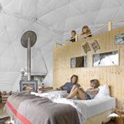 *알프스 럭셔리 호텔 whitepod eco luxury hotel in switzerland Small Luxury Hotels, Luxury Tents, Open Hotel, Dome Structure, Switzerland Hotels, Tent Sale, Dome Tent, Dome House, Boutique Homes