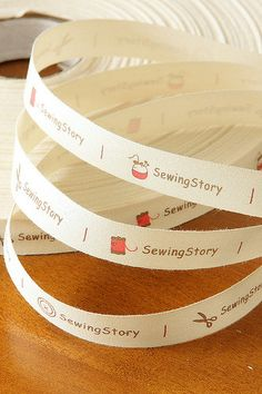 Sewing Tape-Sewing Label-Ribbon-Cotton Ribbon-Trim-Sew On Label-Sewingstory on Etsy, $3.98 AUD