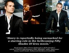 """:) That's right.... """"Henry is reportedly being earmarked for a starring role in the forthcoming Fifty Shades movie...!"""""""