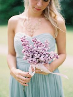 Simple Lilac Wedding Bouquet | photography by http://www.ryleehitchnerblog.com/