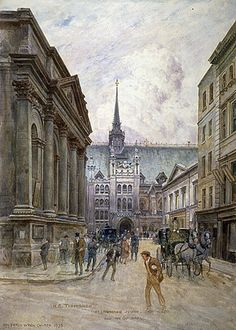 St Lawrence Jewry and Guildhall, c1895 | Flickr - Photo Sharing!  Artist: Tidmarsh, Henry Edward (1854-1939)   Medium: watercolour