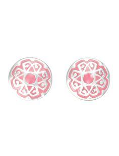 DJAAFAR prosperity Grace earrings. silver enamelled in by DJAAFAR