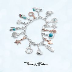 New thomas sabo charm club bracelet Thomas Sabo, Silver Charms, Sterling Silver Bracelets, Cool Gifts, Jewelry Watches, Pandora, Pendants, Jewels, Horsham