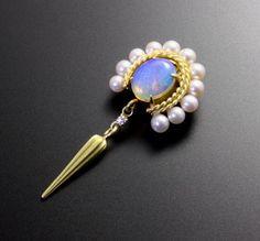 Opal pearls semioval pendant top von KAZNESQ auf Etsy