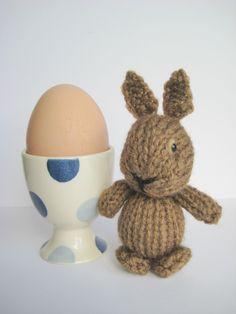 Egg Cup Bunny Rabbit teeny tiny mini toy knitting pattern £2.00