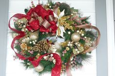 Black Friday Etsy Christmas Wreath Door by thebloomingcornercom, $105.00
