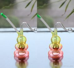15cm Tall Colorful Mini Glass Bongs Cheap Glass Water Pipes Bong With Joint Size 10mm Headshower Gourd Shape Free Ship Glass Pipe Online with $12.07/Piece on Delicate_glass's Store | DHgate.com