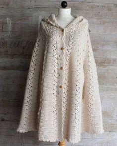 Long Hooded Cape - Purchased Crochet Pattern - (ravelry)