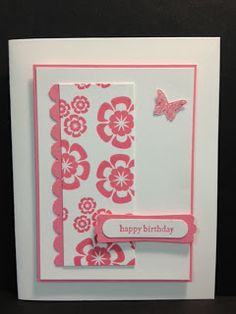 A Betsy's Blossoms Birthday  Stampin Up! Rubber Stamping Cards