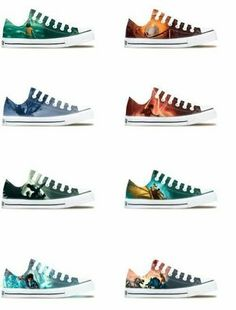 Percy Jackson shoes!!!!!!!!!!!!!!!!!!!!!! these are amazing! I want them all! but if I had to choose one ... prob the last Olympian ones XD <3