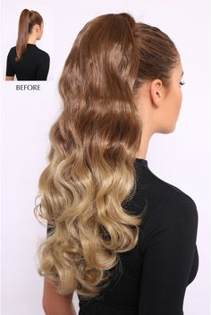 """Ombre Wavy Luxe 20"""" Curly Ponytail"""