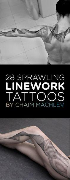 Linework Tattoo Designs by Chaim Machlev