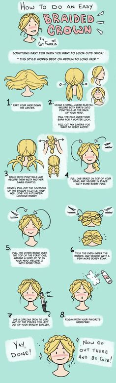 braided crown diy how to