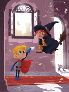 Arthur and the witch by cosmococo.deviantart.com on @deviantART