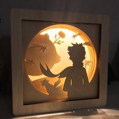 Little prince shadow box – The Little prince lamp – Little prince nursery – little prince baby shower – Baby boy nursery decor – Night light Der kleine Prinz Shadow Box Die kleine Prinz Lampe Little Shadow Box Kunst, Shadow Box Art, Shadow Shadow, Night Shadow, Prince Nursery, Gravure Laser, 3d Paper Art, Art 3d, Diy Paper