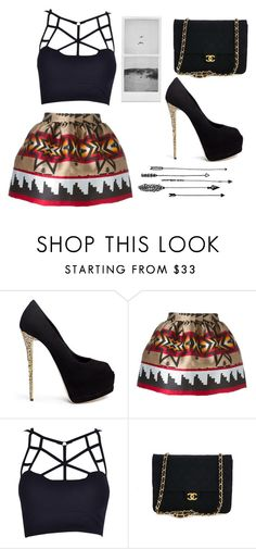 """Merry Christmas"" by alexis1501 ❤ liked on Polyvore featuring Giuseppe Zanotti, Dsquared2 and Chanel"
