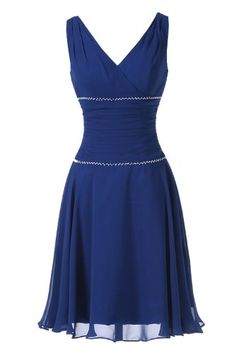 Sunvary Modest V Neck Cocktail Evening Dress Bridesmaid Dress Chiffon - US Size 2- Royal Blue Sunvary http://www.amazon.com/dp/B00GW8LUGM/ref=cm_sw_r_pi_dp_681gub0MZAT4A