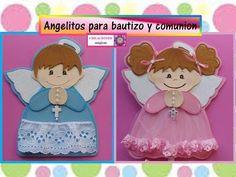 ♥♥ Angelitos de foamy para Bautizo o Comunión-Creaciones Mágicas♥♥ - YouTube First Communion, Ideas Para, Princess Peach, Minnie Mouse, Teddy Bear, Baby Shower, Toys, Disney Characters, Floral