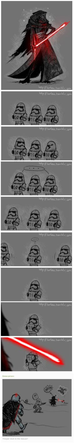By artist lurluu on tumblr <- I am fully convinced this happened at sometime #StarWars #KyloRen #TFA