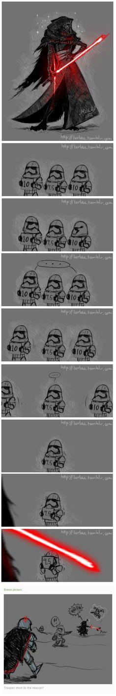 By artist lurluu on tumblr <- I am fully convinced this happened at sometime #StarWars #KyloRen #TFA