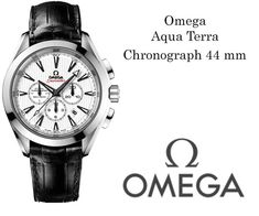 Omega Aqua Terra Chronograph 44 mm Mens Watch  #omegawatches #omegaaquaterra #omegaaquaterrachronograph #luxurywatches #majordor | www.majordor.com