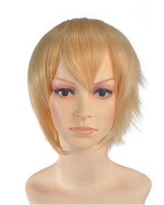 Brani Short Blonde Wig Cosplay at nextwigs.com