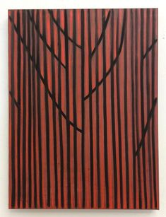 Benjamin Butler, 'Red orange forest (dark)', 2017