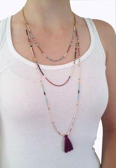 Multi-strand tassle necklace