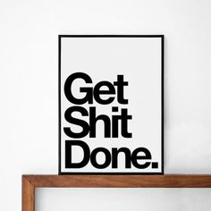 done inspirational poster typography art wall decor mottos graphic design happy art force office decoration
