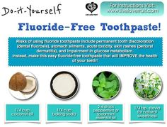 Floride Free Toothpaste DIY