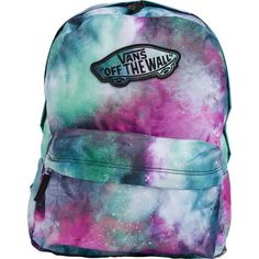 VANS Realm galaxy backpack (€35) ❤ liked on Polyvore featuring bags, backpacks, backpack, accessories, vans, galaxy bag, vans backpack, vans bag, planet bags and backpack bag