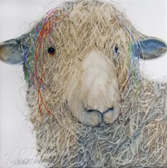 Earthwood Galleries of Colorado - Sarah Rogers, Sheepish, Limited edition giclee print on canvas, 16x16 (http://www.earthwoodgalleries.com/sarah-rogers-sheepish-limited-edition-giclee-print-on-canvas-16x16/)