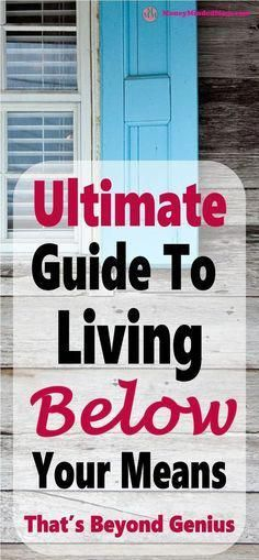 LIVING BELOW YOUR MEANS - A COMPLETE GUIDE ~ Living below your means is a must in your overall financial health. It is key to every single aspect of your finances from managing your money and budget, to living a stress free and happy life. Read on to lear Ways To Save Money, Money Tips, Money Saving Tips, Money Plan, Money Hacks, Budgeting Finances, Budgeting Tips, Genius Ideas, Living Below Your Means