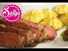 Weihnachtsmenü: Rib Eye Steak & Humus & Herzoginkartoffeln / Adventskalender 12.12.15 - YouTube