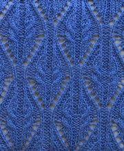 Motif dentelle tricot torsadé point