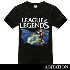 Cool Designs League OF Legends T Shirt lux black