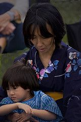 Mother and son at the Japanese Festival