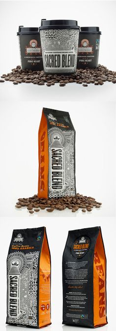 Sacred Blend coffee package design
