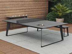 Table Ping Pong, Outdoor Ping Pong Table, Outdoor Console Table, Pool Table Dining Table, Concrete Dining Table, Patio Side Table, Outdoor Coffee Tables, Outdoor Dining, Apartment Ideas