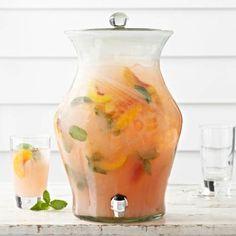 Recipes   Peach-Mint Lemonade   Sur La Table