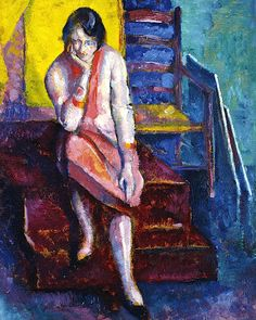 bofransson: Alfred Wolmark (1877-1961) Seated woman in the studio