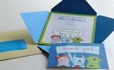 2nd Birthday Invite and Thank You card