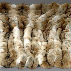 Coyote Fur Throw Blanket Looks so luxurious and soft, but how was the animal treated? Fur Bedding, Bedding Sets, Fur Rug, Fur Accessories, Fabulous Furs, Fur Blanket, Faux Fur Throw, Mountain Man, Room Rugs