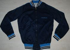 VINTAGE GOODYEAR RACE TYRES TRACKSUIT TOP JACKET NYLON SHINE BLUE M L MADE ITALY