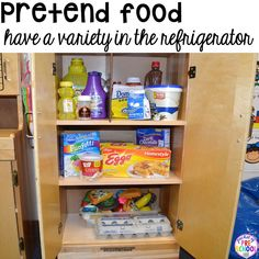 Setting up your dramatic play classroom - what's in the refrigerator? Real or imaginary props?