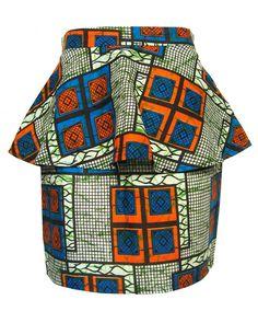 fair + trade african-print peplum skirt fashion conscience