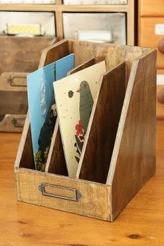 Antique Style Wood File Organizer $13.85
