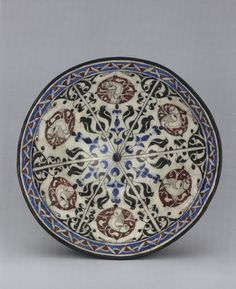 Syrian underglaze-painted bowl, probably made in Damascus c. 1150 (from Perpetual Glory: Medieval Islamic Ceramics from the Harvey B. Plotnick Collection by Oya Pancaroglu (2007), Art Institute of Chicago).